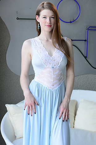 Gemma Minx In Her Flowing Gown Plays With Herself - Picture 1