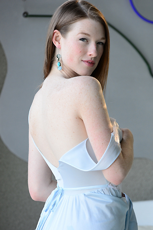 Gemma Minx In Her Flowing Gown Plays With Herself - Picture 3